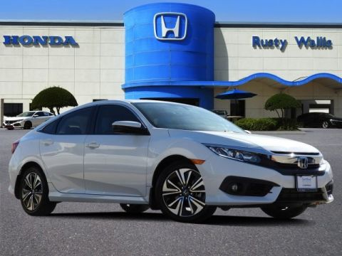 Certified Pre-Owned 2017 Honda Civic EX-L 1.5L I-4 DI DOHC Turbocharged